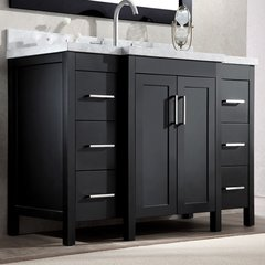 "49"" Hollandale Single Sink Bathroom Vanity - Black"