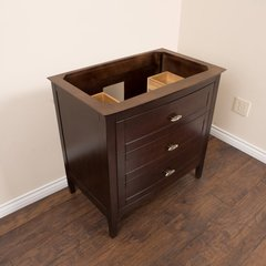 "35"" Single Sink Cabinet Only w/o Top - Sable Walnut"