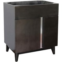 30 Inch Single Sink Bathroom Vanity Cabinet Only - Silvery Brown