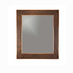 """36""""x31"""" Rectanlge Copper Wall Mount Mirror-Oil Rubbed Bronze"""
