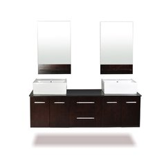 "72"" Skyline Double Sink Bathroom Vanity - Espresso"
