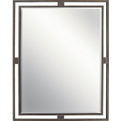 30 x 24 Inch Hendrik Contemporary Mirror - Olde Bronze
