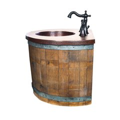 "24"" Bordeaux Wall Mount Bathroom Vanity Suite - Oak"