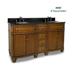 "60-1/2"" Compton Double Sink Vanity - Walnut"