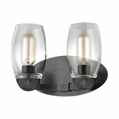 Pamelia 2 Light Bathroom Vanity Light - Old Bronze