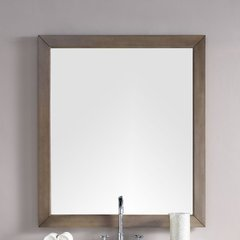 "48"" x 42"" Chicago Wall Mount Mirror - Whitewashed Walnut"