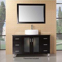 "48"" Malibu Single Vessel Sink Bathroom Vanity - Espresso"