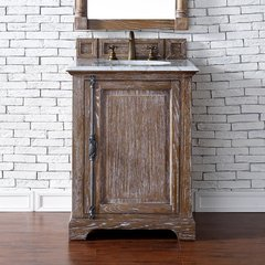 "26"" Providence Single Vanity Cabinet Only-Driftwood"