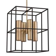 Lagrange 8 Light Pendant - Aged Brass