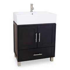 "28"" York Single Sink Vanity - Espresso"