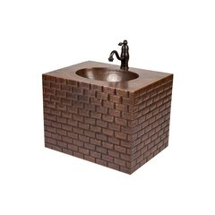 "24"" Hand Hammered Copper Wall Mount Vanity-Oil Rubbed Bronze"