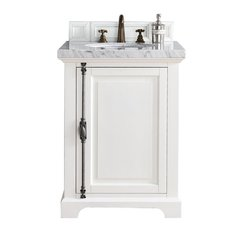"26"" Providence Vanity w/Cararra White Top - Cottage White"
