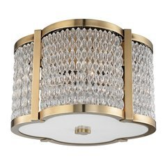 Ballston 4 Light Flush Mount - Aged Brass