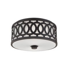 Genesee 2 Light Medium Flush Mount - Old Bronze