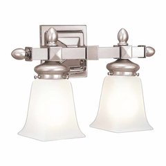 Cumberland 2 Light Bathroom Vanity Light - Satin Nickel