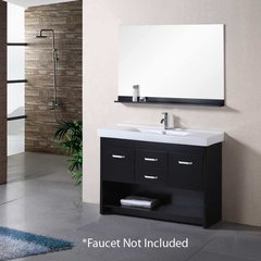 "48"" Citrus Single Sink Bathroom Vanity - Espresso"