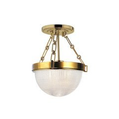 Winfield 1 Light Semi Flush - Aged Brass