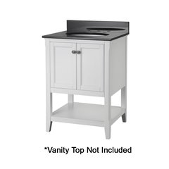 """24"""" Auguste Cabinet Only w/o Top - White"""