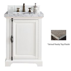 "26"" Providence Vanity w/Tropical Brown Top - Cottage White"