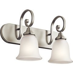 Monroe 2 Light Wall Mount Bath Light - Brushed Nickel