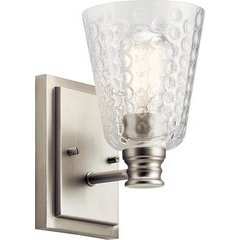 Nadine 1 Light Wall Sconce - Brushed Nickel