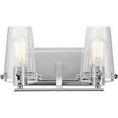 Alton 2 Light Wall Mount Bath Light - Chrome