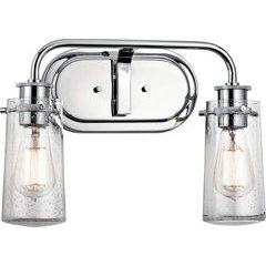 Braelyn 2 Light Wall Mount Bath Light - Chrome