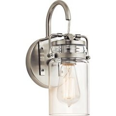 Brinley 1 Light Wall Sconce 100W - Brushed Nickel