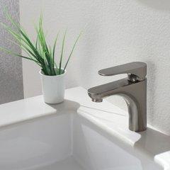 Aquila 1 Handle Single Hole Bathroom Faucet - Brushed Nickel
