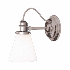 Hadley 1 Light Bathroom Sconce - Satin Nickel