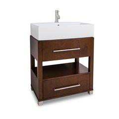 """28"""" Wells Vessel Sink Bathroom Vanity - Chocolate"""