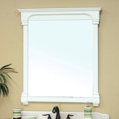 "41"" x 42"" Wall Mount Mirror - Cream White"