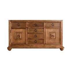 "60"" Mykonos Double Cabinet only w/o Top - Cinammon"