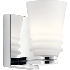 Victoria 1 Light Wall Sconce 50W - Chrome <small>(#45975CH)</small>