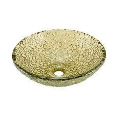 "16"" x 5-1/2"" Glass Vessel Bathroom Sink - Sea Green"