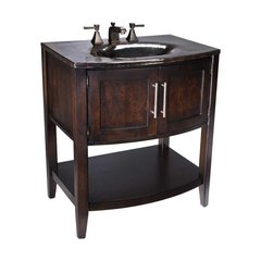"30"" Verismo Single Sink Bathroom Vanity - Black Nickel"