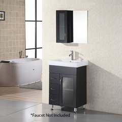 "24"" Milan Single Sink Bathroom Vanity - Espresso"