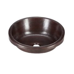 "17"" Dia Legacy Drop In Bathroom Sink - Black Copper"