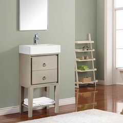 "18"" Kent Single Vanity - Taupe Glaze w/ White Top"