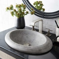 "21"" x 15"" Cuyama Drop-In Bathroom Sink - Ash"