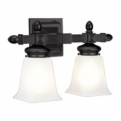 Cumberland 2 Light Bathroom Vanity Light - Old Bronze