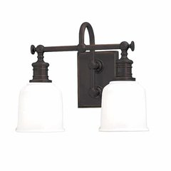 Keswick 2 Light Bathroom Vanity Light - Old Bronze