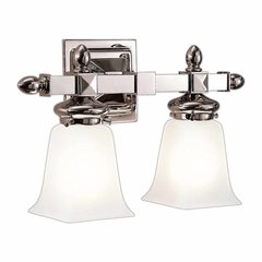 Cumberland 2 Light Bathroom Vanity Light - Polished Nickel