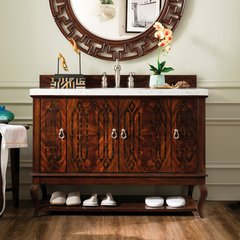 "48"" Palm Beach Single Vanity Cabinet Only-Dark Amber"