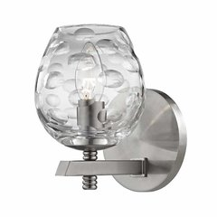 Burns 1 Light Bathroom Sconce - Satin Nickel