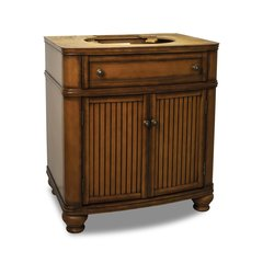"30"" Compton Single Sink Cabinet Only w/o Top - Walnut"