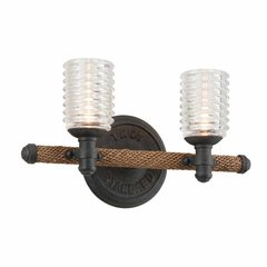 Embarcadero 2 Light Bathroom Vanity Light - Shipyard Bronze