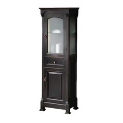 "25"" Brookfield Linen Cabinet - Antique Black"
