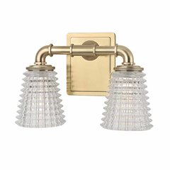 Westbrook 2 Light Bathroom Vanity Light - Aged Brass