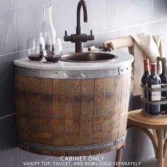 """24"""" Bordeaux Single Sink Wall Mount Vanity Only w/o Top- Oak"""